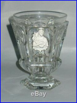 Ancien Gobelet Cristal De Baccarat Le Creusot Cristallo-cérame St Jean Charles X