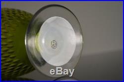 Ancienne Carafe A Eau Vin Cristal Couleur Taille Modelé Paris Baccarat Signe