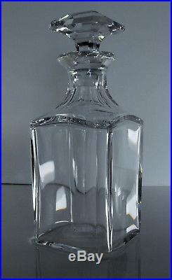 Ancienne Carafe En Cristal Massif Taille Baccarat Signe