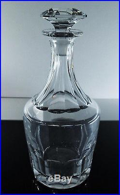 Ancienne Carafe En Cristal Taille Cotes Plates Caton St Louis Signe (baccarat)