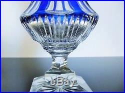 Ancienne Vase En Pied Forme Medici Taille Pierres Diamant Baccarat 1908