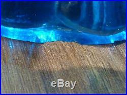 Ancienne coupe compotier signée Baccarat modèle bambou couleur
