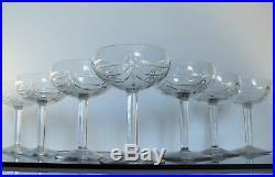 Anciennes 9 Coupes A Champagne Cristal St Louis Baccarat Boheme Lorraine