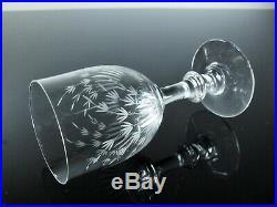 Art Déco Anciennes 6 Verres A Vin En Cristal Grave Taille Baccarat St Louis