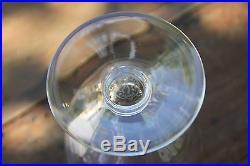 Art Déco Cristal taillé de Baccarat Champaubert 5 verres à vin 8,5 cm