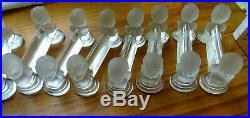 BACCARAT, 12 porte couteaux Cristal moulé model buste bebe de Houdon