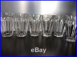 BACCARAT 6 Gobelets Verres à Thé Cristal modèle Harcourt old Tumbler glass signé