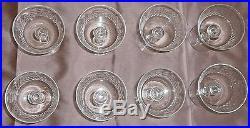BACCARAT 8 Coupes à Champagne Cristal taillé Modèle Richelieu
