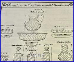 BACCARAT BAMBOU TORS CUVETTE COUPE SALADIER CRISTAL DIAMETRE 35 cm