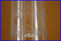 BACCARAT Lampe Grand Photophore Bougeoir Cristal Gravé Modèle Bambou