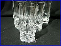 BACCARAT MODELE NANCY 6 verres à orangeade long drink whisky scotch signés