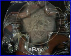 BACCARAT Pied de Lampe en Cristal Foot Crystal Lamp XXème Signé