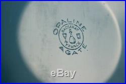 BACCARAT vase cristal bleu opaline agate (42005)