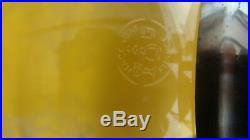 BOUGEOIR PHOTOPHORE EN CRISTAL DE BACCARAT SIGNE(cachet)
