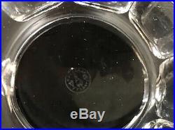 BROC A EAU CRISTAL BACCARAT MODELE TALLEYRAND HARCOURT + 2 GOBELETS H 12,5 cm