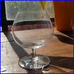 Baccarat 10 Verres à Cognac Cristal Grand Modèle