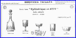 Baccarat-6 Coupes A Champagne Serv Cylindrique Taille 5777-richelieu-champigny-1