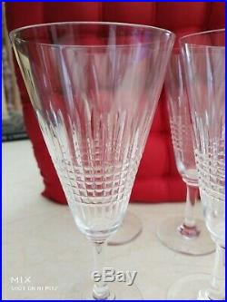 Baccarat 6 Flutes cristal modèle Nancy