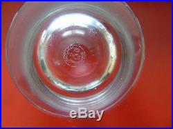 Baccarat 6 Gros Verres A Whisky En Cristal Estampille Ligne Pure Dans Leur Coff