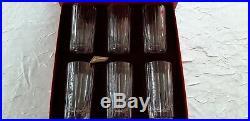 Baccarat 6 Verres Chope A Long Drink Modele Harmonie Neufs En Coffret D'origine