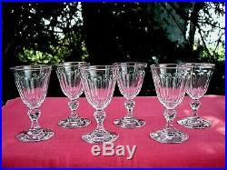 Baccarat 6 Weingläser Verre A Vin Cristal Taille Cotes Plates 19ème Xixème Ac A