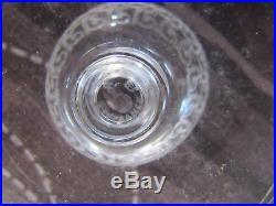Baccarat 6 verres a vin rohan gravé et estampillé etat parfait