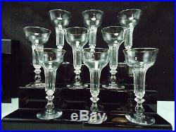 Baccarat-9 Anciennes Coupes Champenoises A Pied Creux-champagne