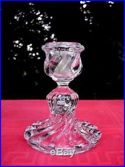Baccarat Bambou Photophore Candlestick Bougeoir Flambeau A Verrine Cristal Gravé