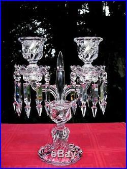 Baccarat Bambous Candle Holders Bougeoir Flambeau Chandelier Candélabre Cristal