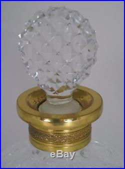 Baccarat Belle carafe à whisky en cristal taillé à pointes de diamants