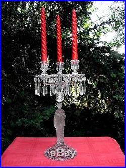 Baccarat Bougeoir Flambeau Chandelier Candélabre Cristal Grec Grece Greek Empire