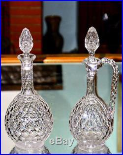 Baccarat. Carafe et aiguière en cristal taillé, modèle Juvisy (Palais Élysée)
