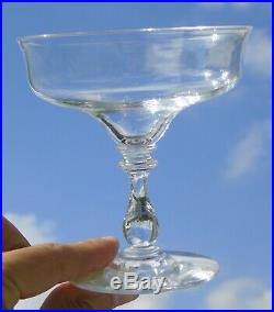 Baccarat Clichy Service de 6 coupes à champagne en cristal soufflé, XIXe s