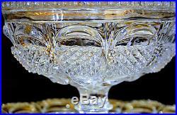 Baccarat. Drageoir couvert en cristal clair, période Charles X vers 1840
