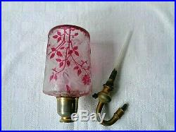 Baccarat Eglantier Cameo Glass Vaporisateur Flacon De Parfum Cristal Grave Acide