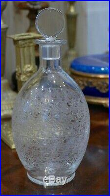 Baccarat Gouvieux Rohan, Carafe En Cristal Gravé, Vers 1950