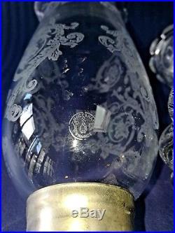 Baccarat Grand Photophore En Cristal Bougeoirs Modèle Bambou
