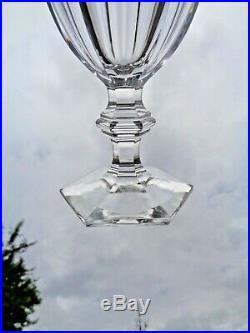 Baccarat Harcourt 6 Wine Glasses Weingläser 6 Verre A Vin Cristal Taillé 19éme D