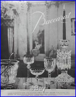 Baccarat Juvisy Presidence Water Glasses Verre A Eau Cristal Taillé 19ème Xixème