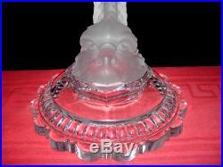 Baccarat Lampe De Salon Pied De Lampe Dauphin Cristal Antiquités Romaine Grec