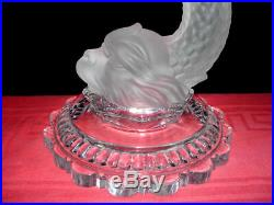 Baccarat Lampe De Salon Pied De Lampe Dauphin Cristal Antiquités Romaine Grec B