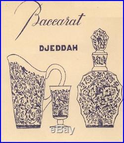 Baccarat Leila Djeddah Whiskey Wine Decanter Carafe Vin Cristal Gravé Art Deco