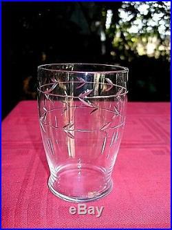 Baccarat Longchamp 6 Water Flat Tumbler Glasses Gobelets A Eau Cristal Art Deco