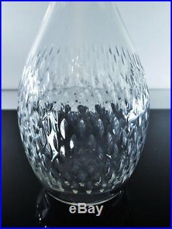 Baccarat Modelé Paris Grand Carafe A Eau Vin En Cristal Taille Signe