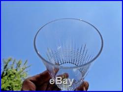 Baccarat Nancy 6 Flat Tumbler Crystal Glasses Gobelet Cristal Taillé Art Deco D