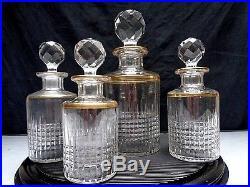 Baccarat Nancy Dore Necessaire De Toilette 4 Flacons Parfum Cristal
