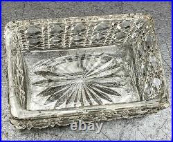 Baccarat Necessaire Toilette Flacons Boites Cristal Taille Argent Minerve