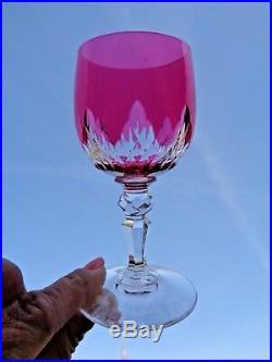 Baccarat Nemours Wine Glasses Verre A Vin Roemer Taillé Doublé De Couleur Coloré