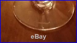 Baccarat Perfection 6 Verres A Vin Du Rhin / D'alsace Roemer Vert Emeraude