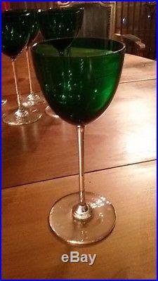 Baccarat Perfection 6 Verres A Vin Du Rhin/d'alsace Roemer Cristal Vert Neuf